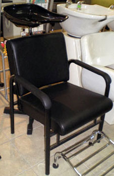 Reclinable basin chair